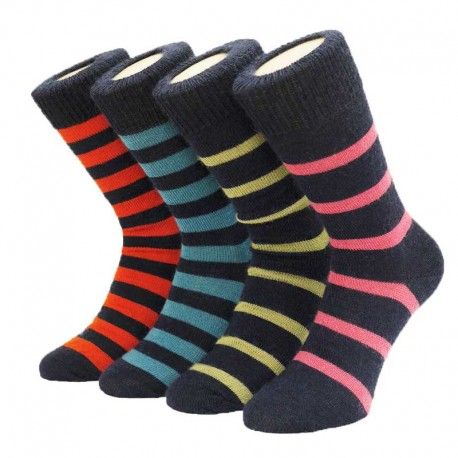 Corrymoor Mohair Devon Stripe Socks