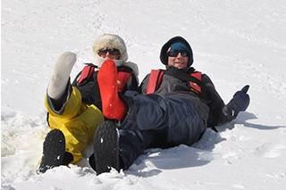 Socks in Antarctica again.