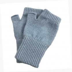 Satin Fingerless Mittens - 100% Pure New Wool