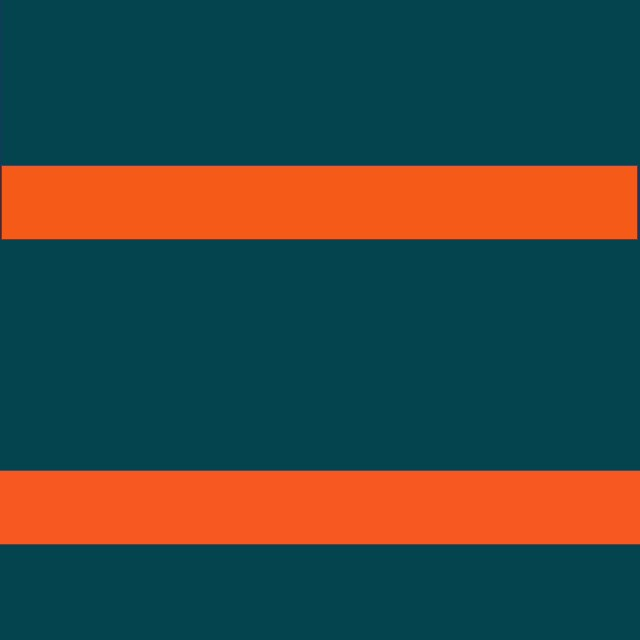 Teal/Orange Wide Stripe